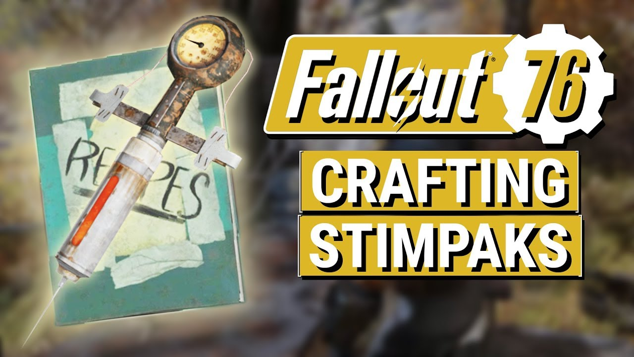 FALLOUT 76: How To Craft STIMPAKS in Fallout 76!! (Stimpak Recipe Guide)