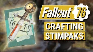 FALLOUT 76: How To Craft STIMPAKS in Fallout 76!! (Stimpak Recipe Guide)