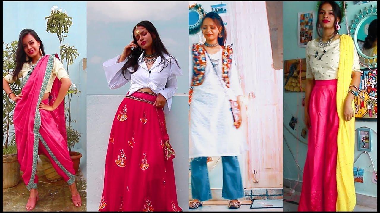 [VIDEO] - My Video 1Dandiya Lookbook | Navratri Outfit ideas 2019| Digdarshinee rout 6