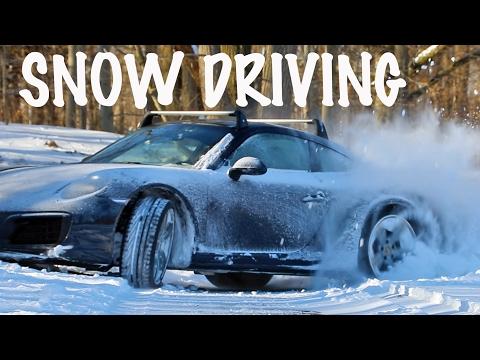 Snow Driving In The Porsche 911 991.2 Carrera 4 S