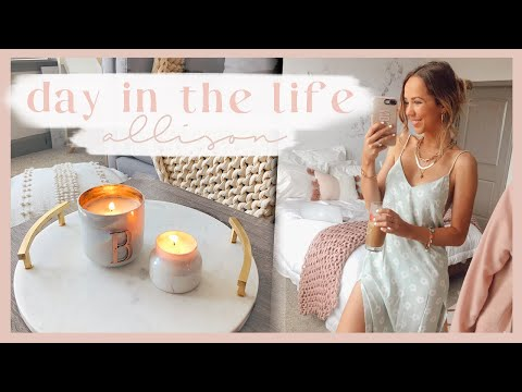 COZY DAY AT HOME | Making Candles, Random Haul, Working, Meal Ideas, & Workout! ✨