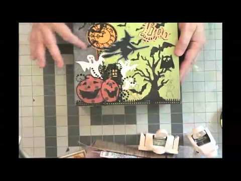 Halloween 8 x 8 Scrapbook Mini Tutorial (sold)