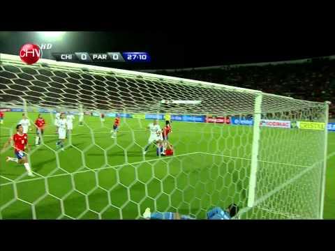 Gol Pablo contreras Chile 1 - Paraguay 0 HD
