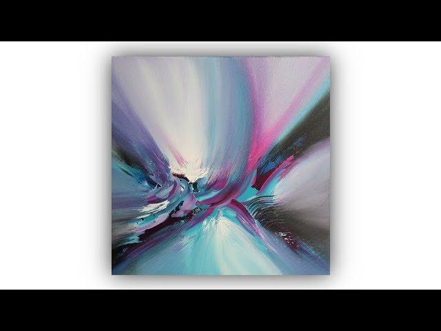 Abstract Painting Techniques / Acrylics / Palette Knife / Easy / Demo #009
