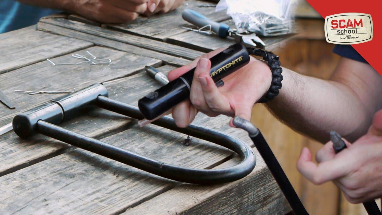 how to unlock bike lock with key