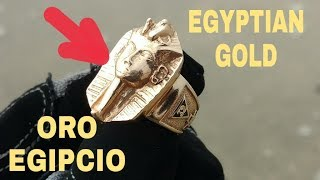 Treasure Hunter Finds  Silver & EGYPTIAN GOLD ! Buscador de Tesoros Encuentra PLATA y ORO EGIPCIO !!