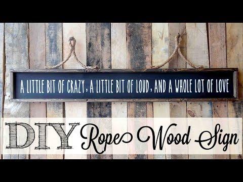 DIY Rope Wood Sign