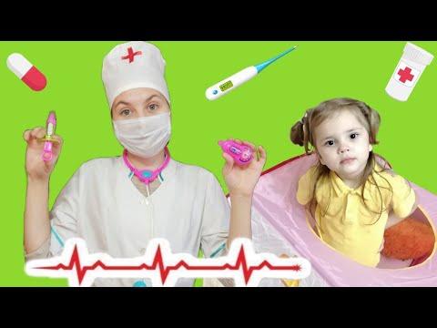 Ариша и Лиза показывают как важно мыть руки - дети играют в доктора | история про микробы все серии