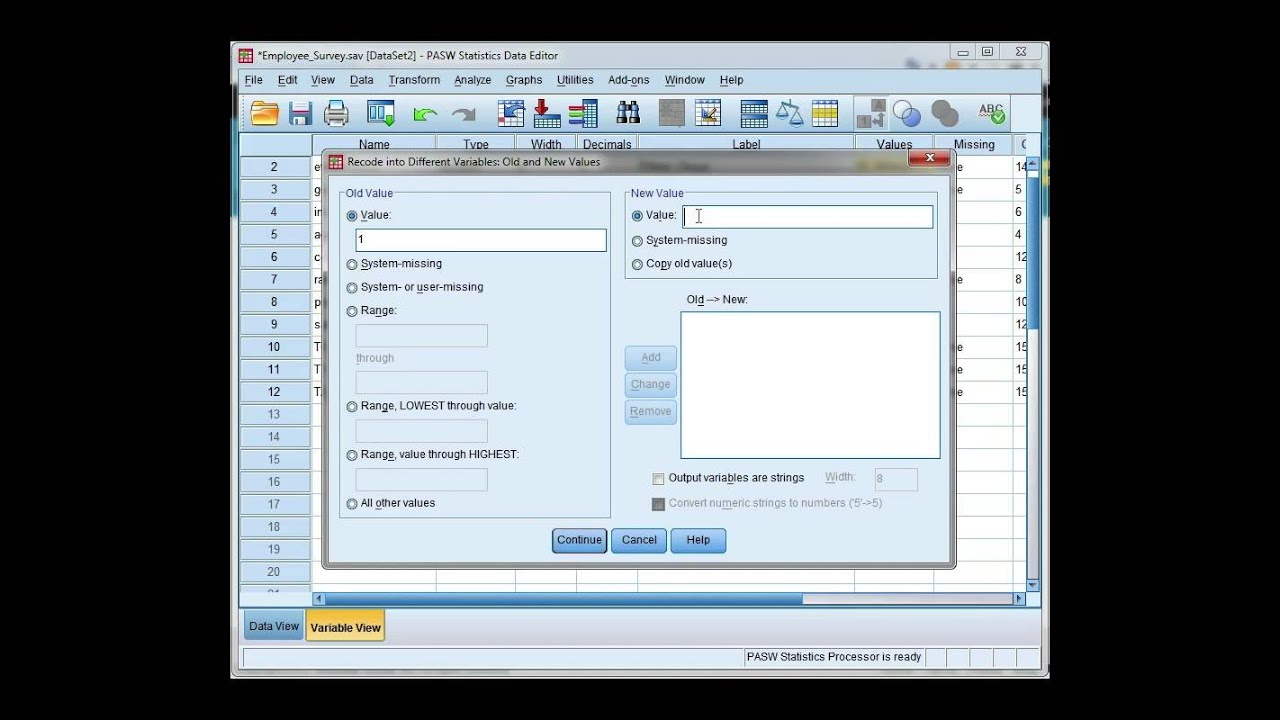Create dummy variables in SPSS