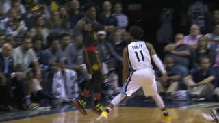 kent bazemore drains the three   hawks vs grizzlies   3 11 17   16 17 nba season