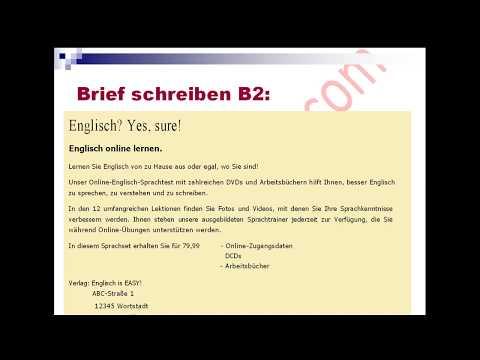 Brief Schreiben B2 كتابة موضوع امتحان اللغة الألمانية