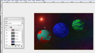 How to Make a 3-D Solar System Picture using GIMP
