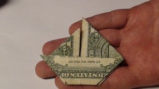 Fold Money Sailboat Origami - $1 One Dollar Bill Tutorial Full Instructions for Moneygami Boat