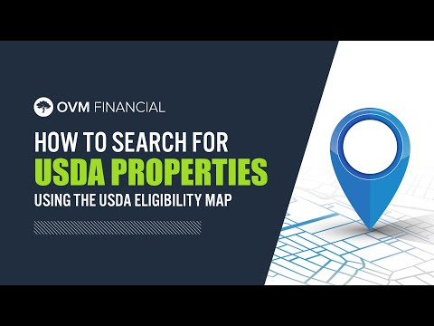 How to Search for USDA Properties Using the USDA Eligibility Map