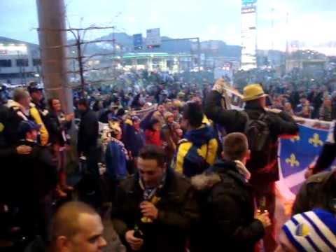 Bosnian Fans in St.Gallen