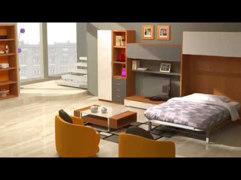 Camas abatibles salon youtube - Mueble salon con cama abatible ...