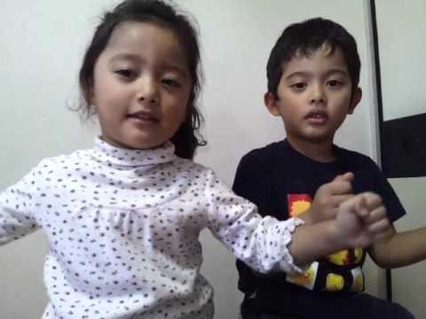 Singing japanese kids song ito maki maki いとまきまき My Son&daughter