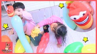 라바 장난감 풍선 놀이시간! 재미있는 색깔놀이 ♡ 어린이 장난감 놀이 Learn colors! Larva balloon toys play | 말이야와아이들 MariAndKids