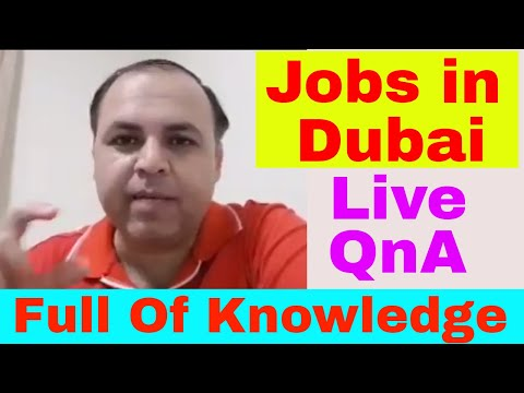 Live Jobs In Dubai | Amazing Questions and Answers | Extreme Knowledge Shared