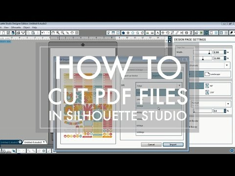 How to Cut PDF File in Silhouette Studio // Basic Edition or Designer Edition // 516vlogs