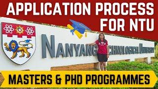 NTU Singapore Admission Process   Nanyang Technological University   Graduate Programmes