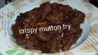 Crispy  Mutton spicy fry recipe with Ayesha