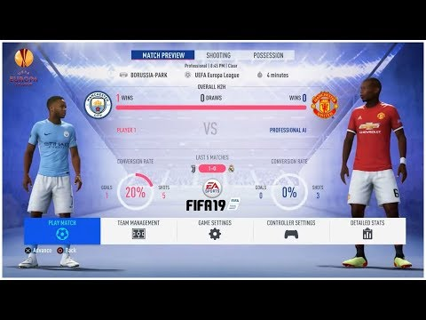 FIFA 19 Indonesia Gameplay: Manchester City vs Manchester United (UEFA Europa League Final)
