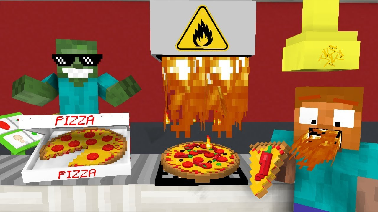 Monster School: WORK AT PIZZA PLACE! - Minecraft Animation