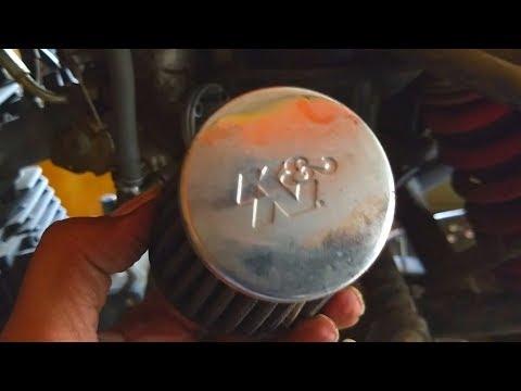 How to Remove k&n Air Filter ( Yamaha Fazer 153cc)