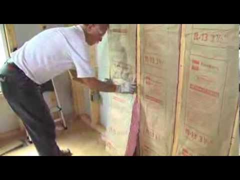 Installing Owens Corning Ecotouch Wall Insulation Part 2