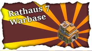CLASH OF CLANS | GUTE RH7 WARBASE (+AIR SWEEPER) | Speed build