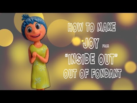 How to make Joy from Inside Out Disney Pixar cake topper out of fondant