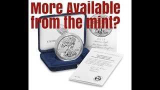 US Mint breaking news more 2019 Enhanced reverse proof S Silver Eagles availbilty. Get Ready!!