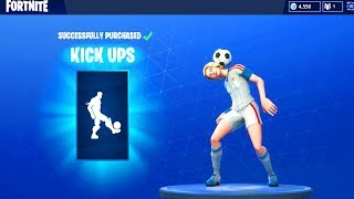 FORTNITE BUYING THE NEW KICK UPS EMOTE WITH NEW FOOTBALL SKIN