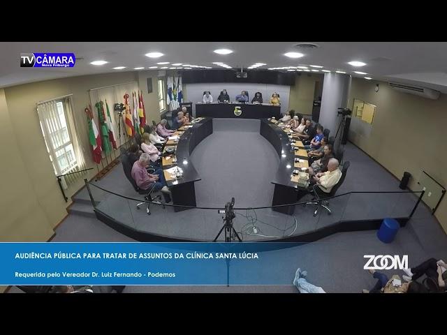 03-12-2019 - AUDIÊNCIA PÚBLICA SOBRE A CLÍNICA SANTA LÚCIA FOI REALIZADA NA CÂMARA - ZOOM TV JORNAL