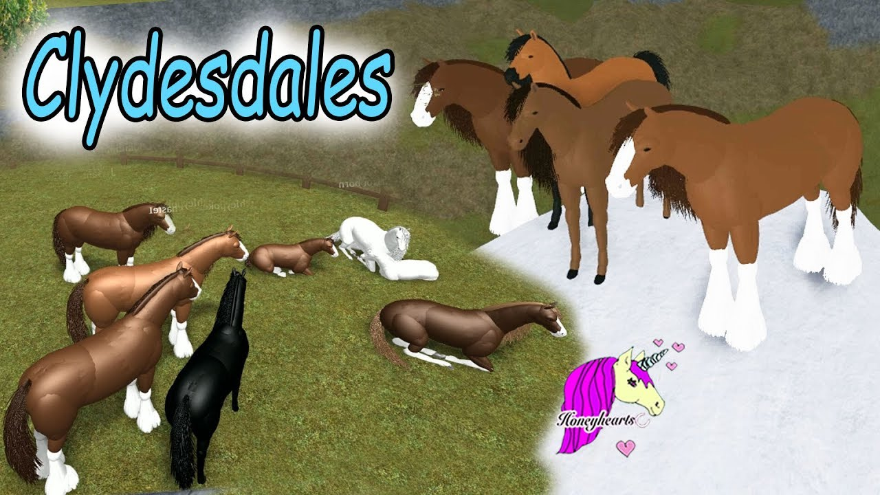 Honeyheartsc Roblox Videos Clydesdale World Lets Play Roblox Horse Heart Online Horses Game Play Video Youtube
