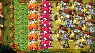 A.K.E.E. and Red Stinger vs 999 Zombies - Plants vs Zombies 2