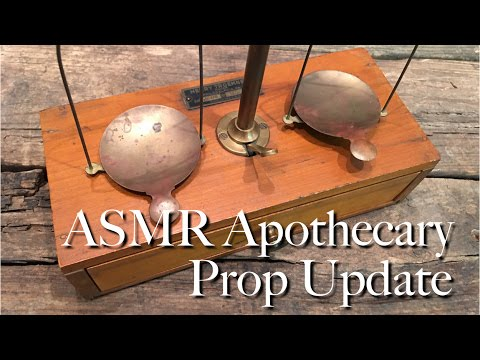 ASMR Apothecary Prop Update (tinkering, assembling, tapping, soft speaking)