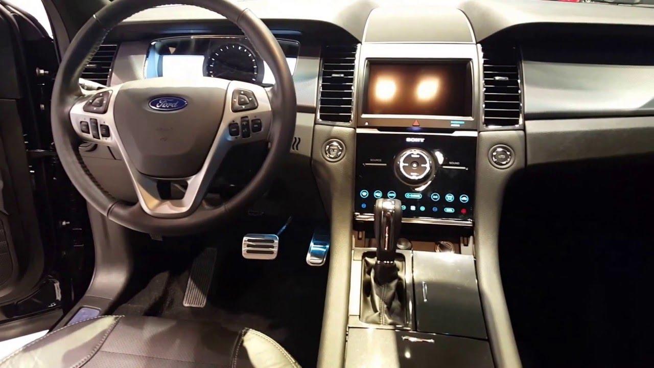 2016 ford taurus sho interior 2016 chicago auto show youtube