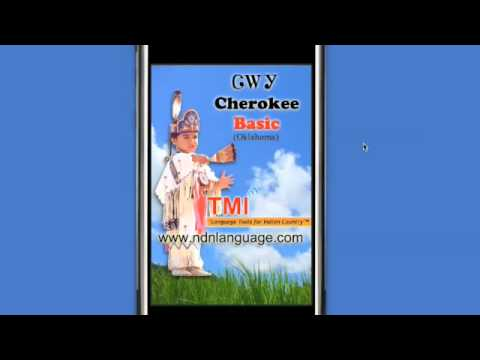 Speak Cherokee Tsalagi Native American Indian Language Lessons iPhone / iPod Touch App