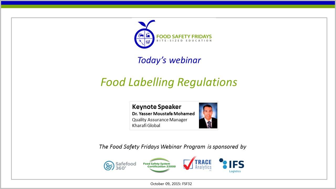 Food Labeling Regulations
