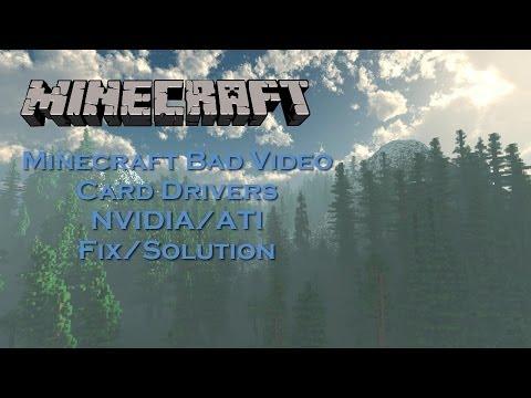 Minecraft Bad Video Card Driver Fix ATI/AMD Detailed Installation Windows 10/8.1/8/7/Vista/XP