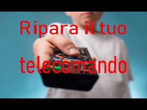 Riparare e ripulire un telecomando della TV - Repair and clean a TV remote control