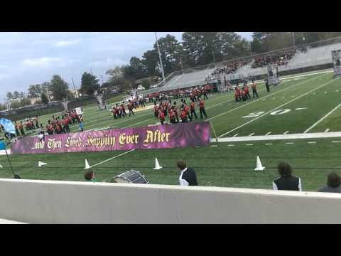 Mauldin High school Band and color guard 2015
