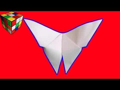 Как сделать Бабочку из бумаги! Оригами бабочка своими руками! Поделки из бумаги! Origami Butterfly