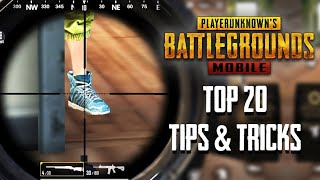 Top 20 tips and tricks in pubg mobile game | best guide to become a pro