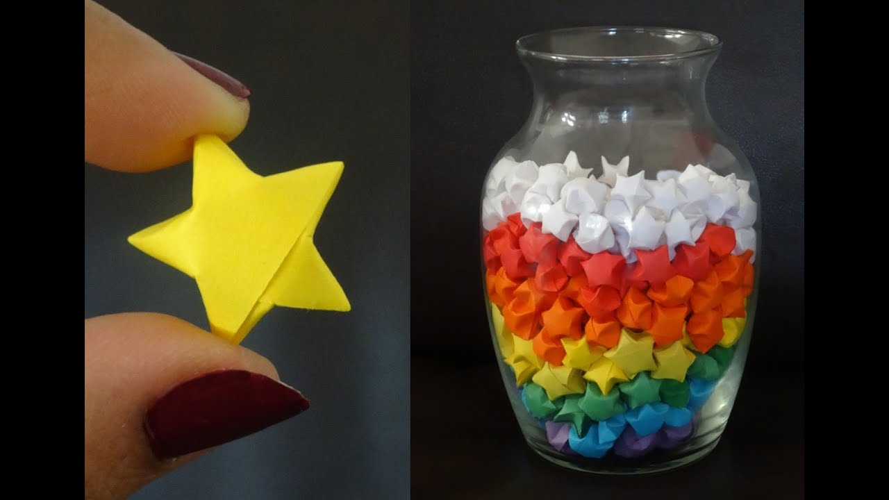 How To Make Lucky Paper Stars   YouTube