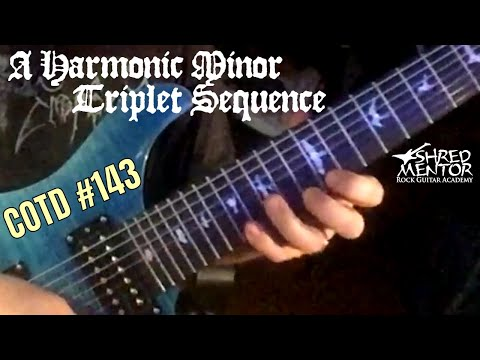 A Harmonic Minor Triplet Sequence | ShredMentor Challenge of the Day #143