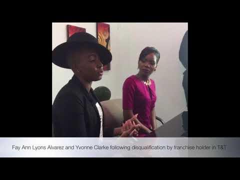 PRESS CONFERENCE - Fay Ann Lyons -Alvarez and Yvonne Clarke.