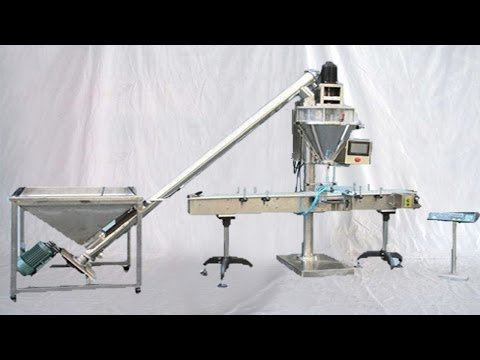 Automatic Powder Filling Machine Bottles Filler Equip Delivery Conveyor Belt مسحوق آلة التعبئة